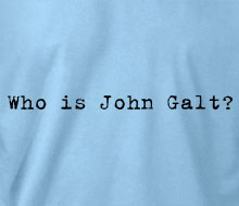Who is John Galt? (Typewriter) - T-Shirt