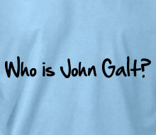Who is John Galt? (1-Line Graffiti) - T-Shirt