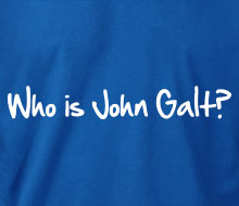 Who is John Galt? (1-Line Graffiti) - Crewneck Sweatshirt