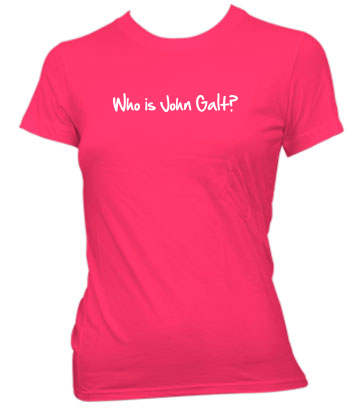 Who is John Galt? (1-Line Graffiti) - Ladies' Tee