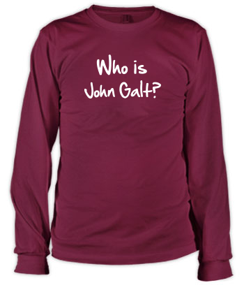 Who is John Galt? (2-Line Graffiti) - Long Sleeve Tee