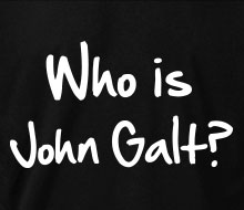 Who is John Galt? (2-Line Graffiti) - Crewneck Sweatshirt