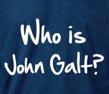 Who is John Galt? (2-Line Graffiti) - T-Shirt