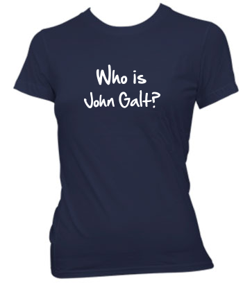 Who is John Galt? (2-Line Graffiti) - Ladies' Tee