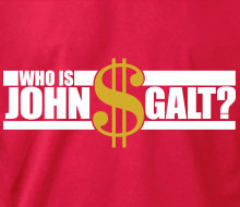 Who is John Galt? ($ with text) - Long Sleeve Tee