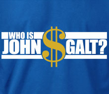 Who is John Galt? ($ with text) - T-Shirt
