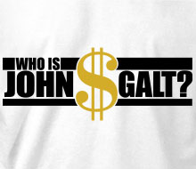 Who is John Galt? ($ with text) - Ladies' Tee