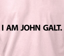 I am John Galt. (Simple) - Ladies' Tee