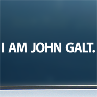 "I am John Galt. (Simple) - Vinyl Decal/Sticker (8"" wide)"