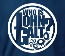 Who is John Galt? (Circle w/Gear) - T-Shirt