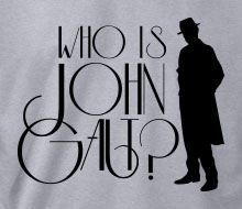 Who is John Galt? (Trenchcoat) - T-Shirt