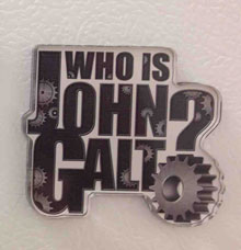 Who is John Galt? (Gears) Refrigerator Magnet