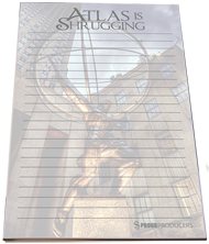 "Atlas Statue ""Atlas is Shrugging"" Stationery Notepad (8.5"" x 5.5"", 50 pages)"