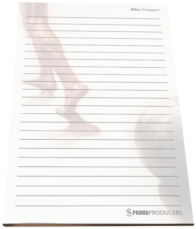 "Atlas Shrugged Stationery Notepad (8.5"" x 5.5"", 50 pages)"