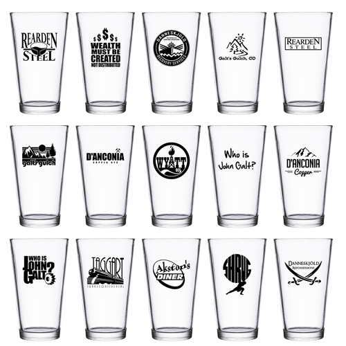 Pint Glass (many design choices!)