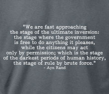 Ayn Rand - Rule By Brute Force (Quote) - Long Sleeve Tee