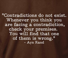 Ayn Rand - Contradictions (Quote) - Ladies' Tee