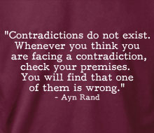 Ayn Rand - Contradictions (Quote)