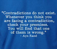 Ayn Rand - Contradictions (Quote) - Hoodie