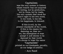 Ayn Rand - Capitalism (Quote) - T-Shirt