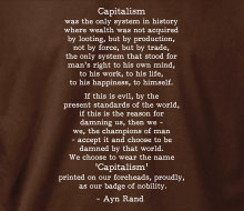 Ayn Rand - Capitalism (Quote) - Ladies' Tee