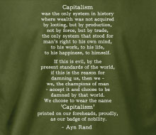 Ayn Rand - Capitalism (Quote) - Long Sleeve Tee