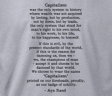 Ayn Rand - Capitalism (Quote) - Crewneck Sweatshirt