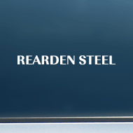 "Rearden Steel (Text Only) - Vinyl Decal/Sticker (8"" wide)"