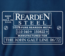 Rearden Metal (Serial Number Plate) - Ladies' Tee