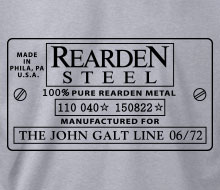 Rearden Metal (Serial Number Plate) - Crewneck Sweatshirt