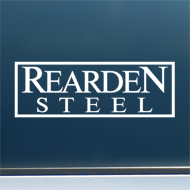 "Rearden Steel (Simple) - Vinyl Decal/Sticker (8"" wide)"