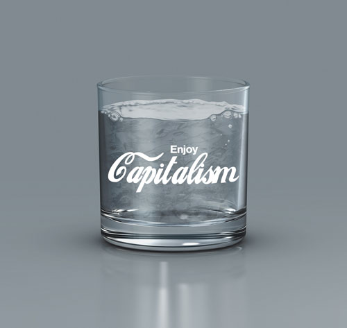 Enjoy Capitalism 11oz Whiskey/Rocks Glass