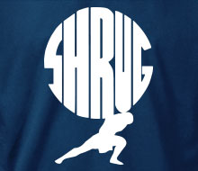 Shrug - T-Shirt (Small Corner Print)