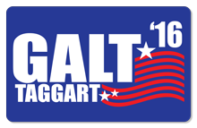 Galt/Taggart '16 - Indoor Sticker