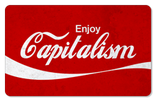Enjoy Capitalism (Vintage) - Indoor Sticker