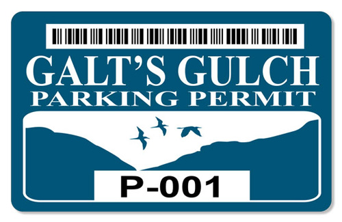 Galt's Gulch (Parking Permit) - Indoor Sticker