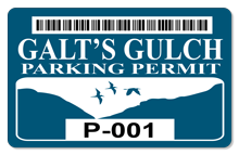 Galt's Gulch (Parking Permit) - OUTDOOR Sticker