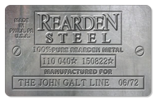 Rearden Steel (Metal Plate) - Indoor Sticker