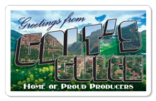 Greetings From Galt's Gulch (Postcard) - Indoor Sticker