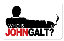 Who is John Galt? (Smoking) - Indoor Sticker