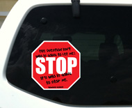 "Howard Roark Stop Sign Sticker (4"" wide)"