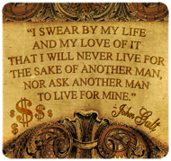 "John Galt ""I Swear"" Quote (Motor) Sticker (6"" wide)"