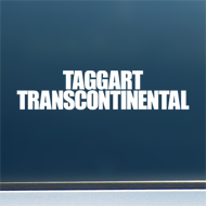 "Taggart Transcontinental (Simple Logo) - Vinyl Decal/Sticker (8"" wide)"