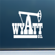 "Wyatt Oil (Rig #2) - Vinyl Decal/Sticker (5"" wide)"