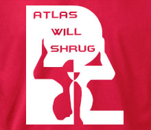 Atlas Will Shrug (Squared) - Long Sleeve Tee