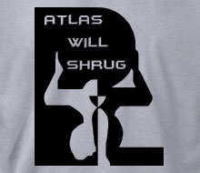 Atlas Will Shrug (Squared) - Crewneck Sweatshirt