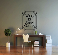 Wall Art - Who is John Galt? (Tall)