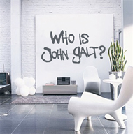Wall Art - Who is John Galt? (Graffiti)