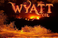 "Wyatt Oil Burning Fields Sticker (6"" wide)"